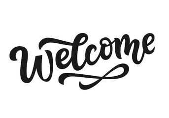 Vector Welcome hand written lettering