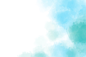 Light blue watercolor background. Digital painting.