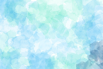 Green and Blue watercolor background. Digital painting.