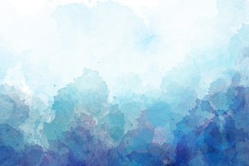 Blue, purple watercolor background. Digital painting.