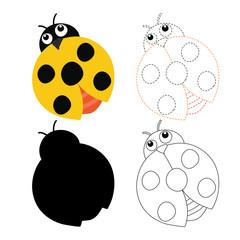bug worksheet vector design for kid
