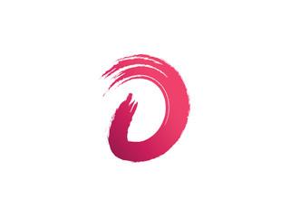 Paint trail letter D vector logo design