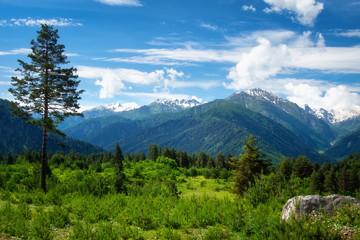 Mountains nature landscape in Georgia