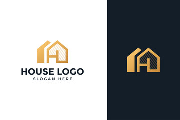 gold house logo real estate company