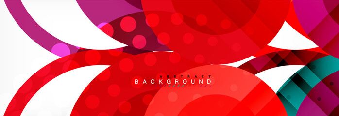 Overlapping circles design background