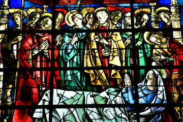 Duclair, France - september 9 2018 : Saint Denis church
