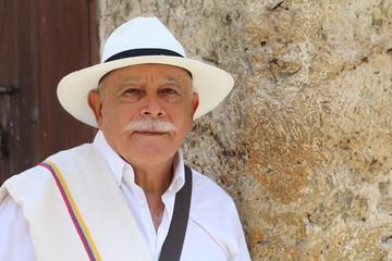 Traditional South American man headshot