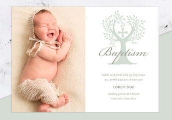 Baptism Invitation Layout