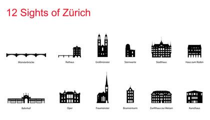 12 Sights of Zürich