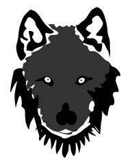Vintage wolf face logo emblem template for business design vector eps 10