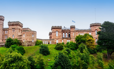 Inverness Castle in Inverness, Scotland