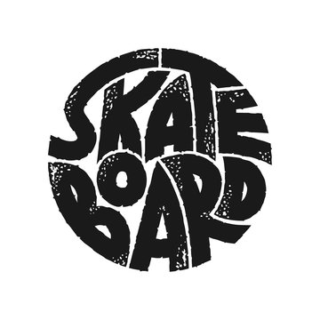Skateboard typography graphics. Concept in vintage style for print production. T-shirt fashion Design.