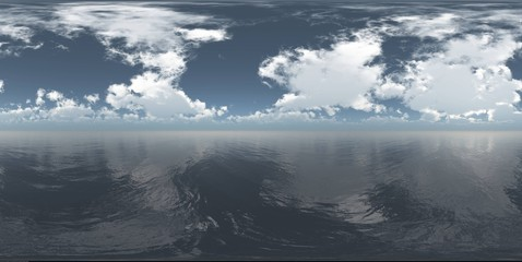 Seascape, HDRI, environment map , Round panorama, spherical panorama, equidistant projection, land under heaven