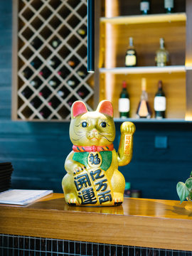 Traditional cat figurine
