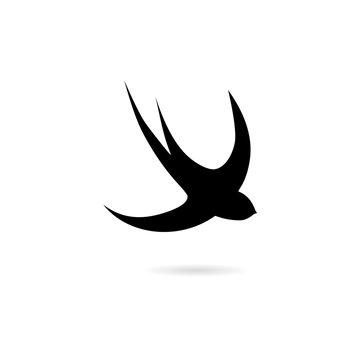 Black Swallow icon, Swallow logo