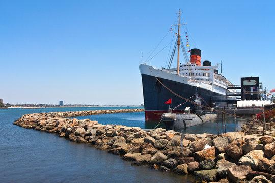 The Queen Mary Long Beach California.
