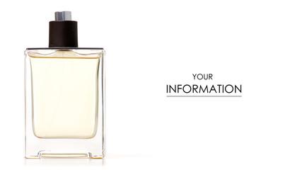 Perfume bottle pattern on white background isolation