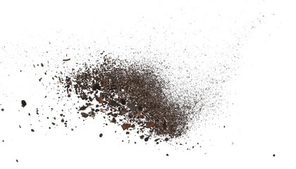 pile dust dirt isolated on white background, with clipping path