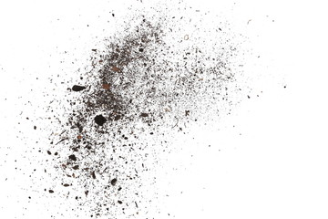 pile dust dirt isolated on white background, with clipping path Wall mural