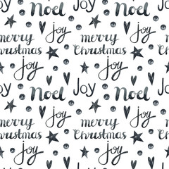 Watercolor seamless pattern for Christmas