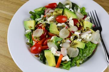 A freshly made Baja salad