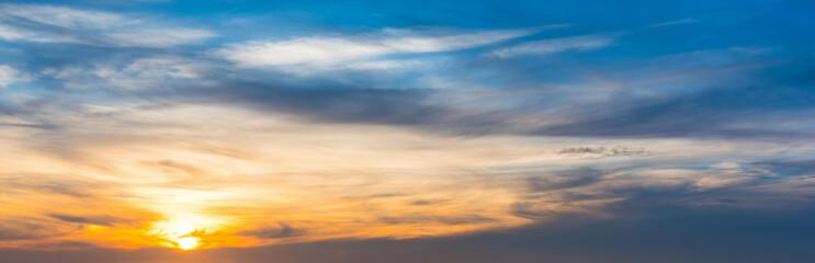 Colorful sky at dusk in Sardinia