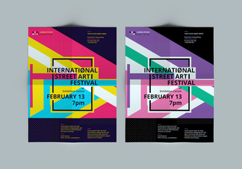 Colorful Modern Poster Layout