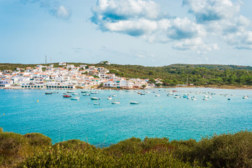 Es Grau Village in Minorca, Spain.