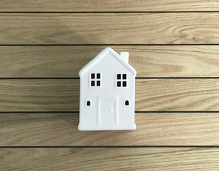 Small White House in Wood Planks photo