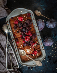 raw plum icecream