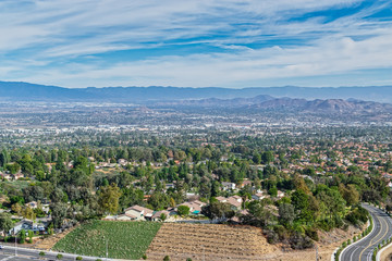 View of inland California on clear fall day