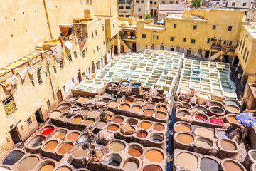Tanneries of Fes, Morocco