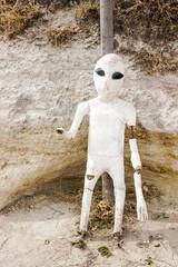alien sculpture in goreme cappadocia