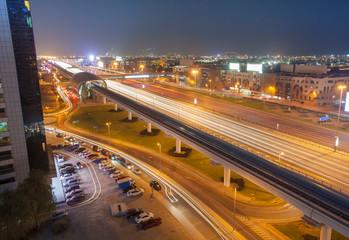 night scene in Dubai city, UAE