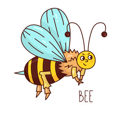 cute bee insect vector character