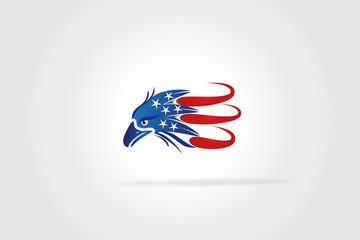 USA Flag Eagle logo vector