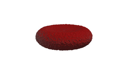 Red blood cell background 3D rendering. Isolated on white background with clipping path.