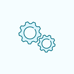 gears 2 colored line icon. Simple colored element illustration. gears outline symbol design from Scientifics study set