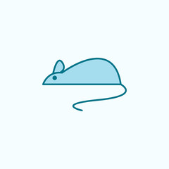 mouse 2 colored line icon. Simple colored element illustration. mouse outline symbol design from Scientifics study set