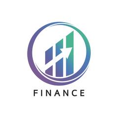 Financial stock exchange logo. Minimal design. Vector illustration