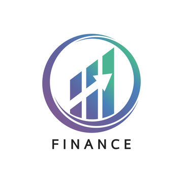 Financial stock exchange logo. Minimal design. Vector illustration