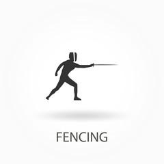 swordsman, stylized fencing sport