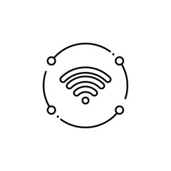 wifi, internet technology icon. Element of internet technology icon for mobile concept and web apps. Thin line wifi, internet technology icon can be used for web and mobile