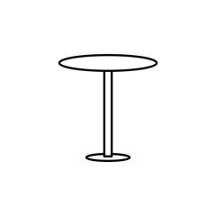 table icon. Element of outline furniture icon. Thin line icon for website design and development, app development. Premium icon