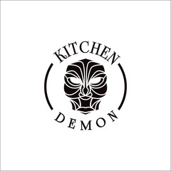 kitchen demon vintage style for restaurant or gourmet