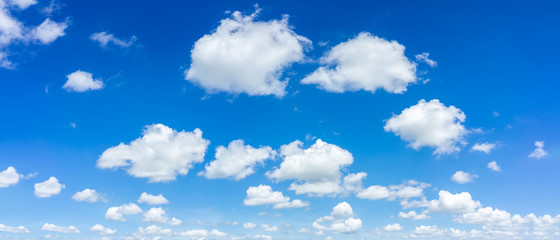 Beautiful blue sky and clouds natural background. Wall mural