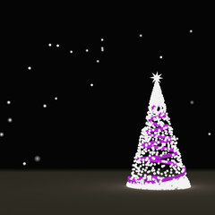 Bright Christmas tree ,3D rendering