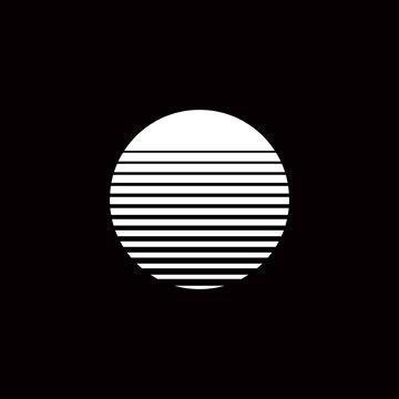 sunset circle minimalism geometry