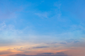 Colorful Beautiful blue sky with cloud formation background