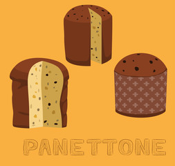 Bread Kind Panettone Vector Illustration